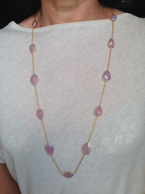 Collier DELIZ rose quartz