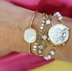 Jonc ALYA, bracelet ALYA avec perles