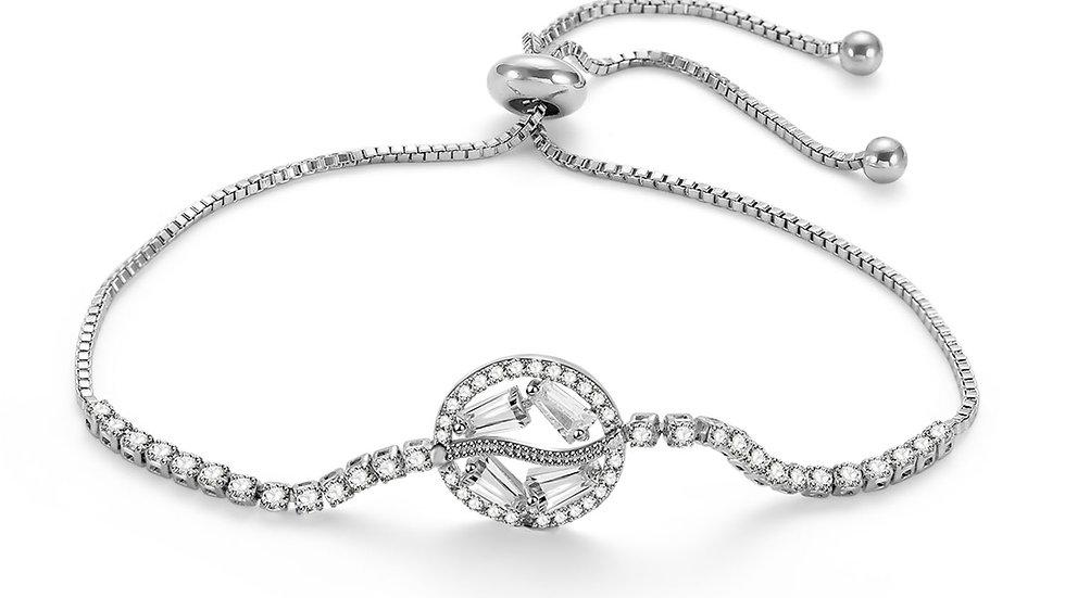 Lariat Bracelet with Baguette Crystals