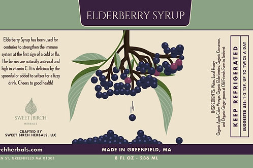 Elderberry Syrup 8 oz.