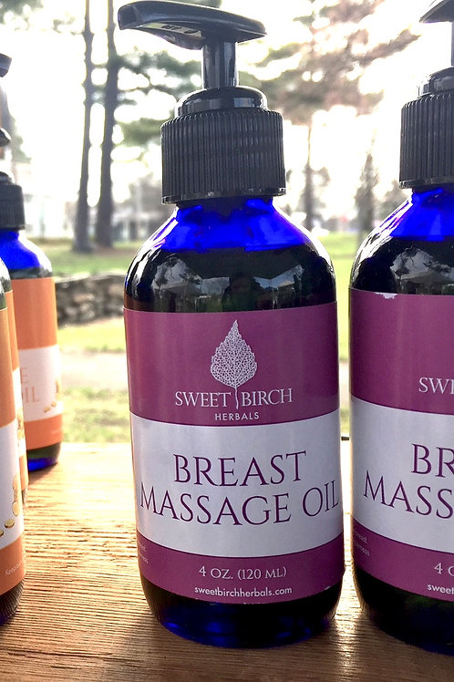 Breast Massage Oil 4 oz.