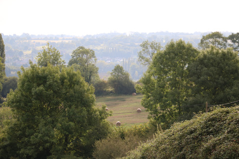 Vue imprenable sur la campagne augeronne_Gîte de charme normandie calvados