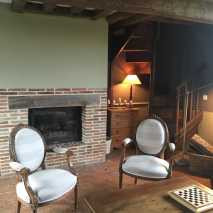 La Blanchetière-Charming cottage in Normandy-Its Cosy lounge.