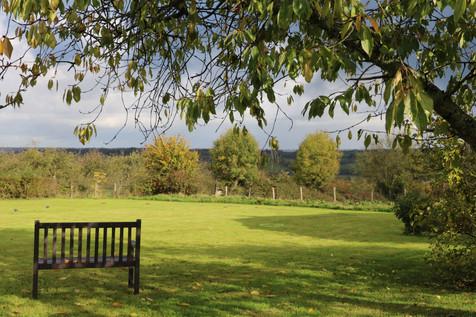 Le banc sous le cerisier - Gîte de charme normandie calvados