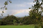 Arc en ciel sur la campagne augeronne - Gîte charme normandie calvados - la Blanchetière