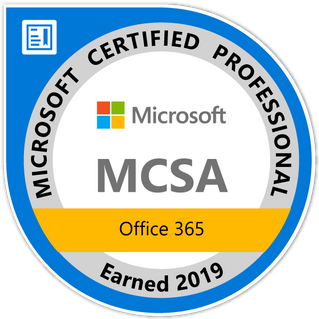 I'm Office 365 certified