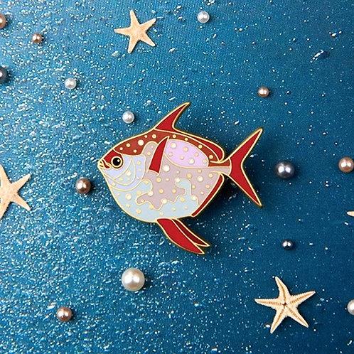 Moon Fish Brooch