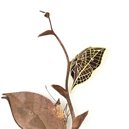 Dead Leaf Butterfly Brooch