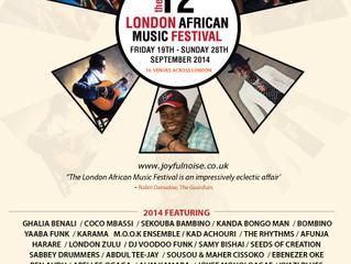 London African Music Festival, 27th September