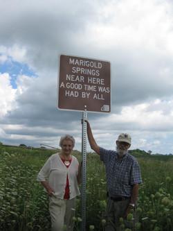 Marigold Springs sign 8-10-15, Bob&Irma mid range