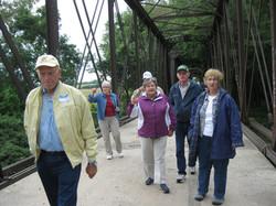 Harvey RR Bridge 2 walking