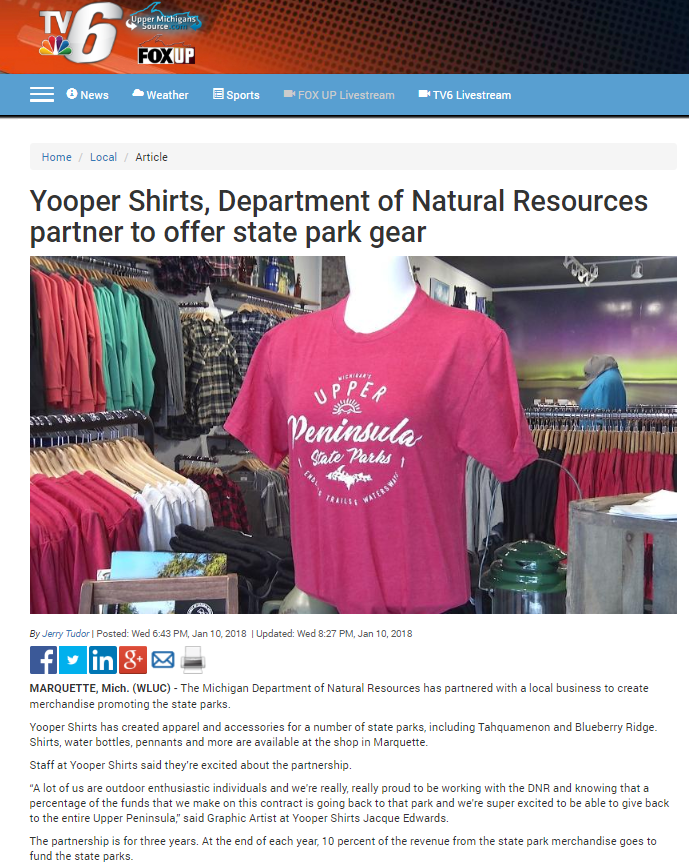 Yooper Shirts DNR Product