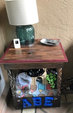 Table made into daytime crib