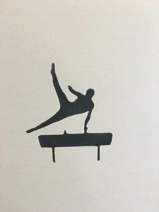 Gymnast Pommel Horse