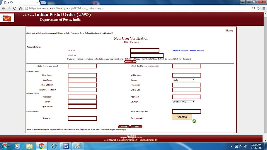 How to get Indian Postal Order Online - 3