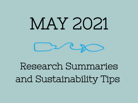 May 2021 Research Summaries and Sustainability Tips