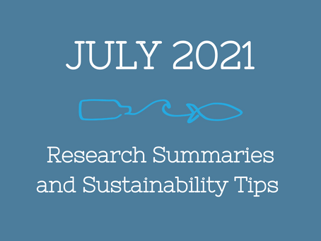 July 2021 Research Summaries and Sustainability Tips
