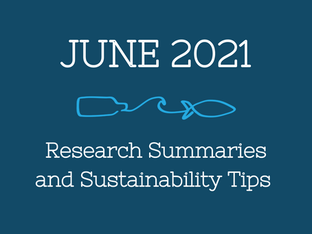 June 2021 Research Summaries and Sustainability Tips