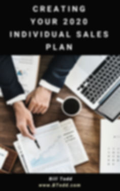Creating Your 2020  Individual Sales Pla