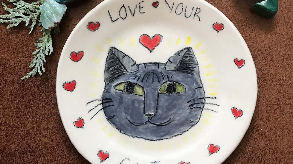 Love your cat Plate