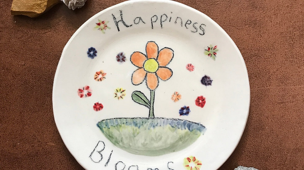 Happiness Blooms Plate