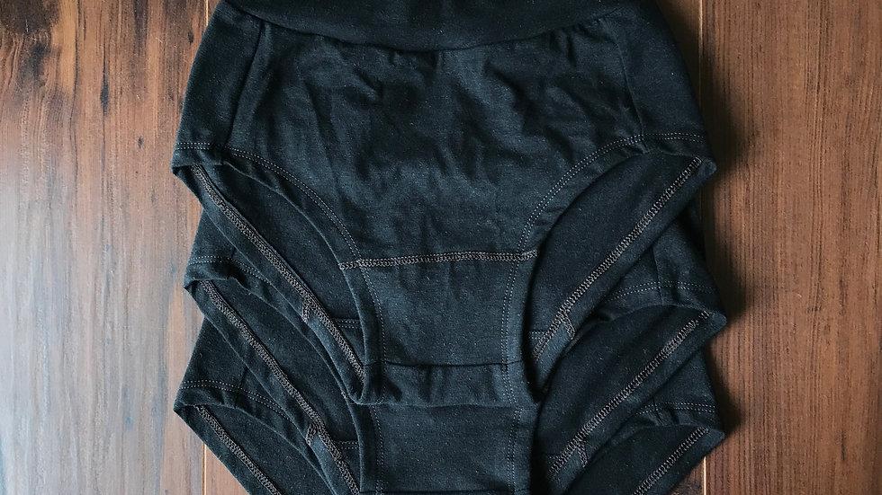Organic Underwear in Raven x3