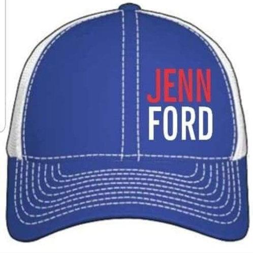 Jenn Ford Blue Trucker Cap