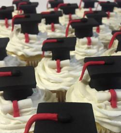 graduation cupcakes closeup
