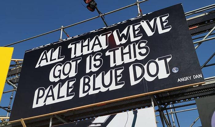Glastonbury 2019 Pale Blue Dot Billboard