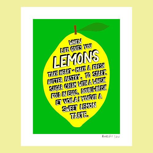 "When Life Gives You Lemons (8"" x 10 Giclée Print)"