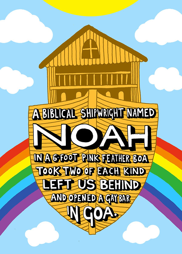 Angry Dan | Lunchtime Limerick | Artist | Illustration | Poem | A Biblical Shipwright Named Noah