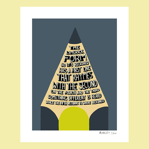 "The Limerick Form, So It's Reckoned (8"" x 10"" Giclée Print)"