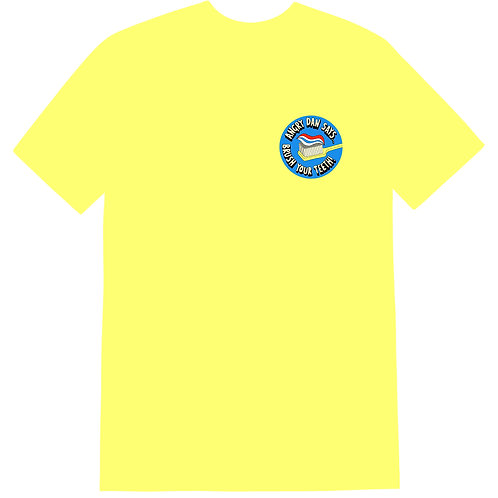 Brush Your Teeth Yellow T-Shirt