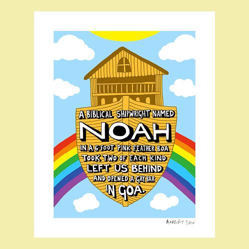 "A Biblical Shipwright Named Noah (8"" x 10"" Giclée Print)"