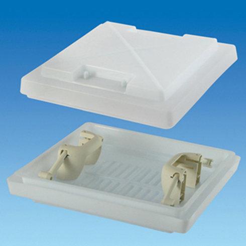 400 x 400 Dome c/w Handles – White