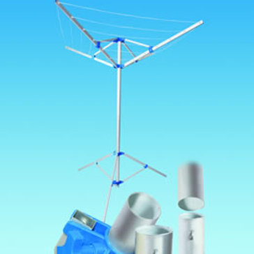 Fold Down Rotary Airer with Tri-pod and Carry Bag