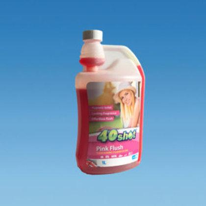 1 Litre 40 Shot PINK Toilet Rinse