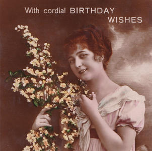 Pretty but worthless Birthday Postcard