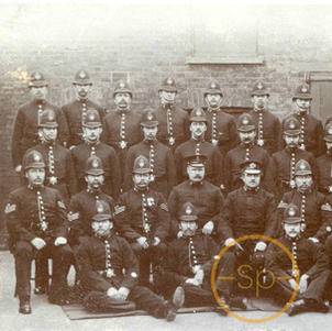 Police Group Postcard
