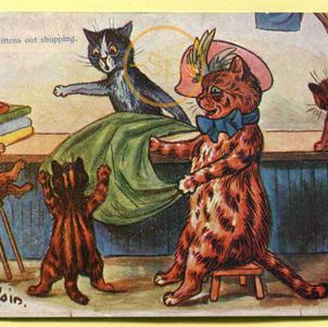 Louis Wain Cats Shopping