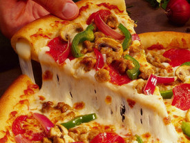 A pizza crust made of cauliflower. Yum.