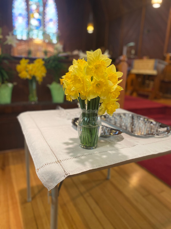 Easter Flowers and Communion Cups.jpg