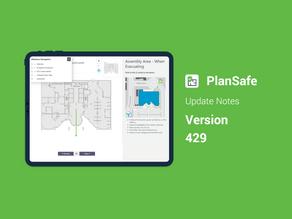 PlanSafe Update - V429