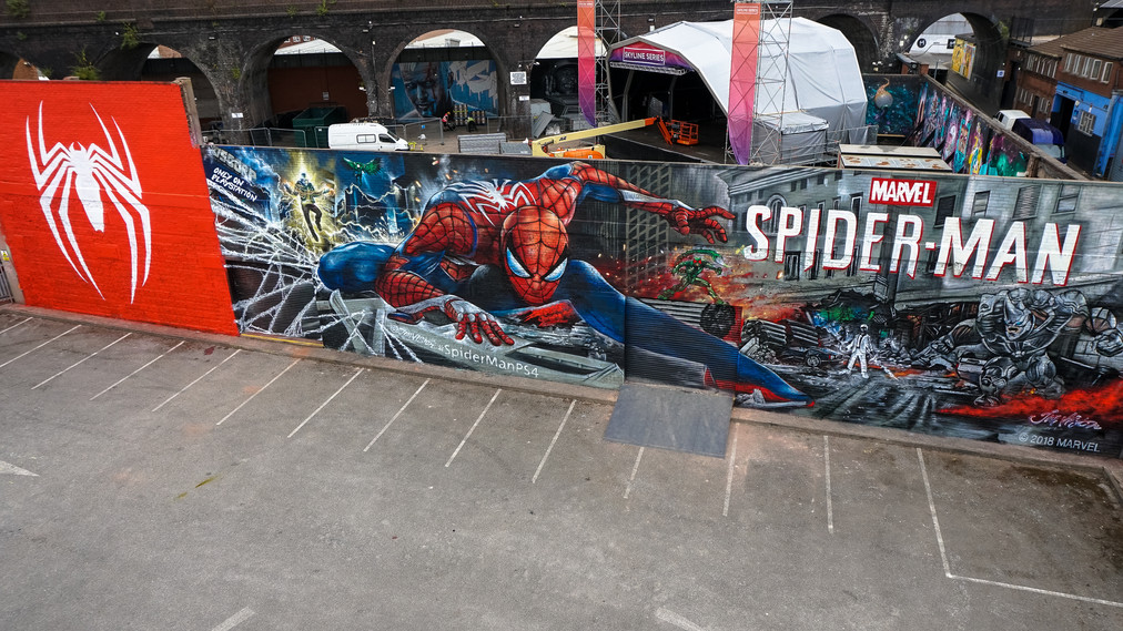 Vista aérea de Spider-Man