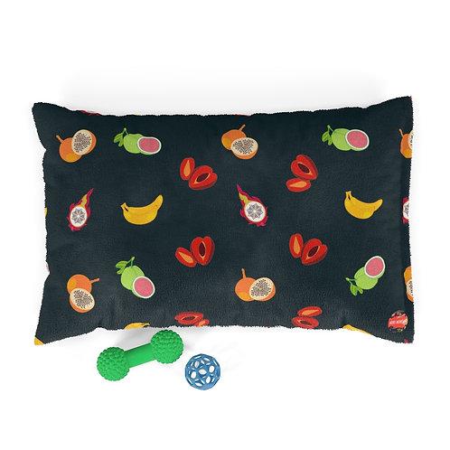Tropical Fruit Pattern Pet Bed