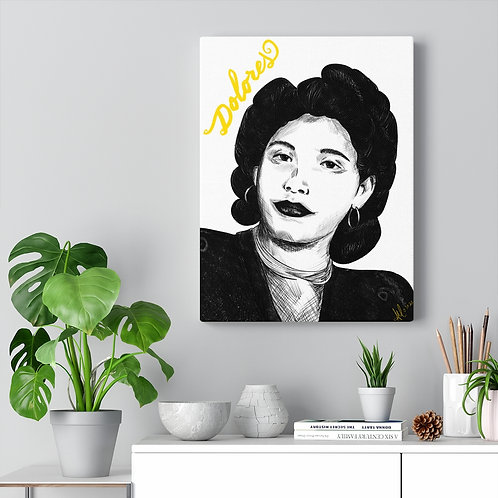 Abuela with Name 12x16 Canvas