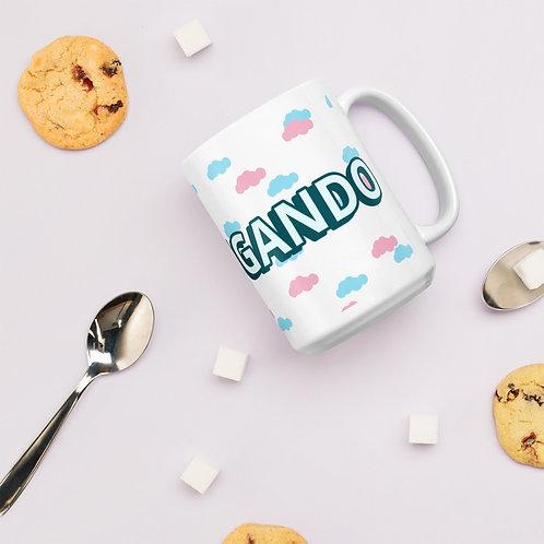 Madrugando White glossy mug
