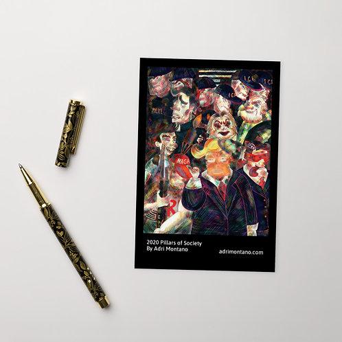2020 Pillars of Society Standard Postcard