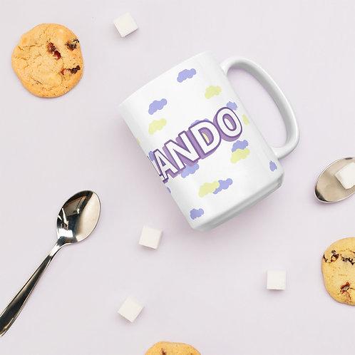 Desvelando White glossy mug
