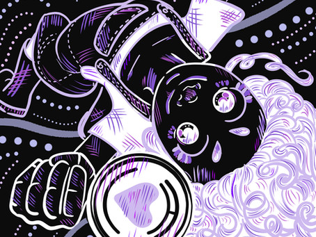 Illustration Process for I Purple You
